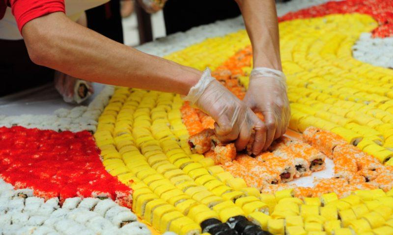 Cel mai mare panou din sushi